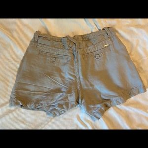 Gray Linen Calvin Klein Shorts
